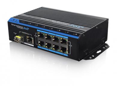 Уличный PoE коммутатор PUS-154-8-1i 8 10/100BASE-TX 802.3af&at+ 1 10/100/1000BASE-TX+ 1 1000BASE-X, расширенный диапазон температур, неуправляемый