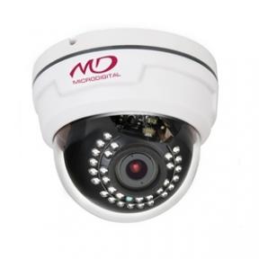 Купольная IP-камера для помещений 2Mpix с автофокусом, аудио  ИК подсветкой L2.8-12мм