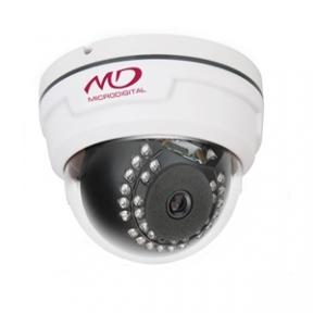 Купольная IP-камера для помещений 2Mpix с авудио ИК подсветкой L3.6мм