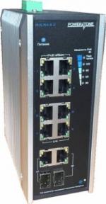 Уличный PoE коммутатор PUS-154-8-2i 8 10/100BASE-TX 802.3af&at+ 2Gb combo расширенный диапазон температур, неуправляемый